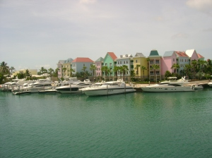 NASSAU CONDOS SEEN FROM ATLANTIS VERANDA