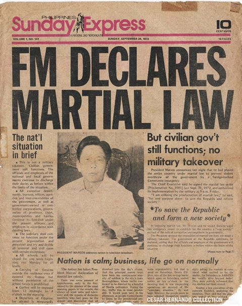 martial law reflection paper